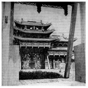 Главные ворота Ногоон-орго — монастыря при зимней резиденции богдо-гэгэнак
