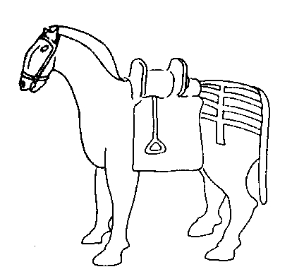 Терракотовая статуэтка из древнекитайского погребения начала IV в.