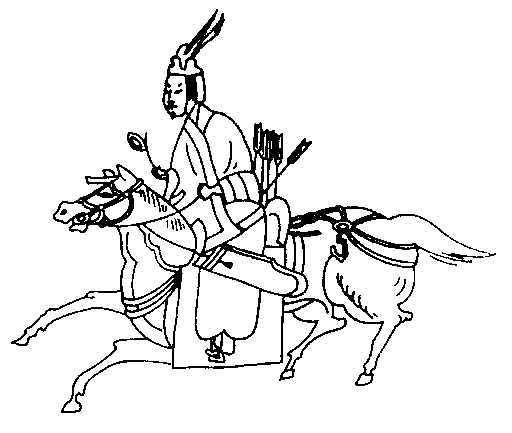 Фрагмент когуресской фрески. IV в.