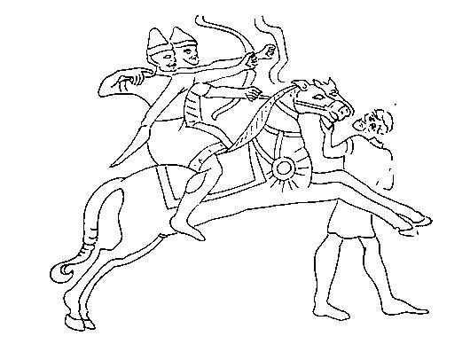 Фрагмент ассирийского барельефа. Середина IX в. до н. э.