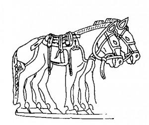 Фрагмент золотой бляхи из Сибирской коллекции Петра I. Государственный Эрмитаж