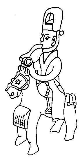 Седло с левосторонней «подножкой». Погребальная фигурка из Чанша. 302 г.